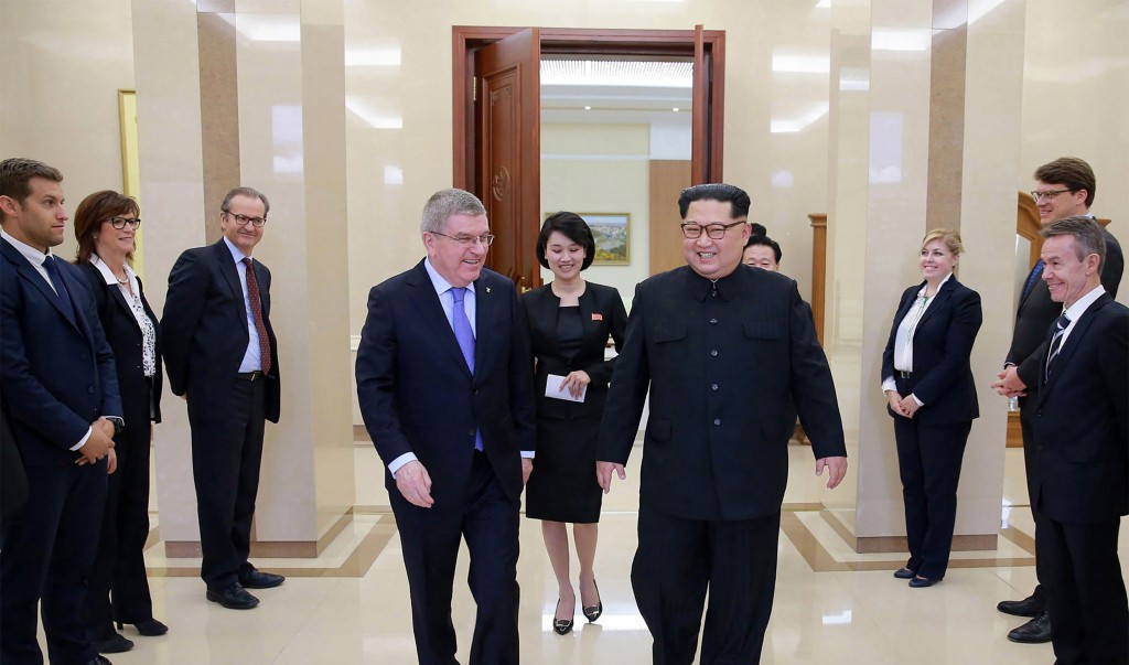 IOC President Thomas Bach met with North Korean leader Kim Jong-un in March ©Getty Images