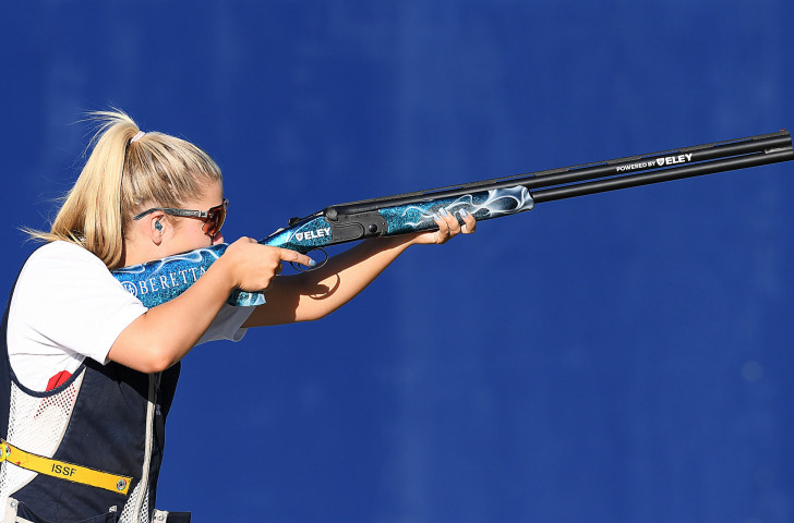 Britain's Amber Hill won her second World Shotgun Cup gold in Malta today - but a political row between the international body ISSF and the Italian Shooting Federation overshadowed her achievement ©Getty Images