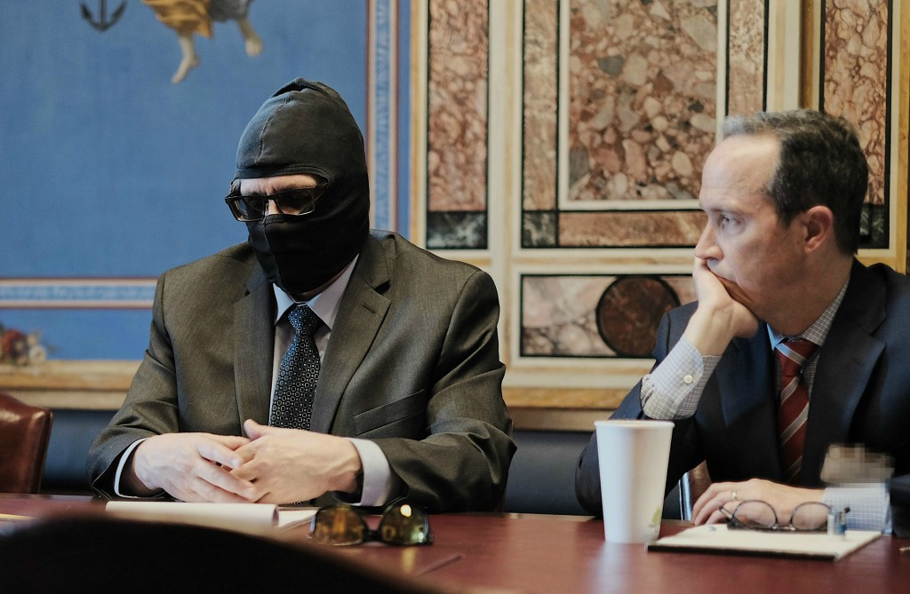 Grigory Rodchenkov and his lawyer Jim Walden met with the Helsinki Commission in March ©Helsinki Commission