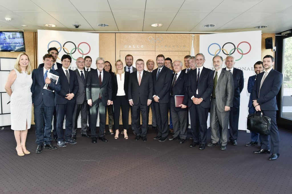 Rome 2024 officials have met with Italy's canoeing and handball federations ©IOC