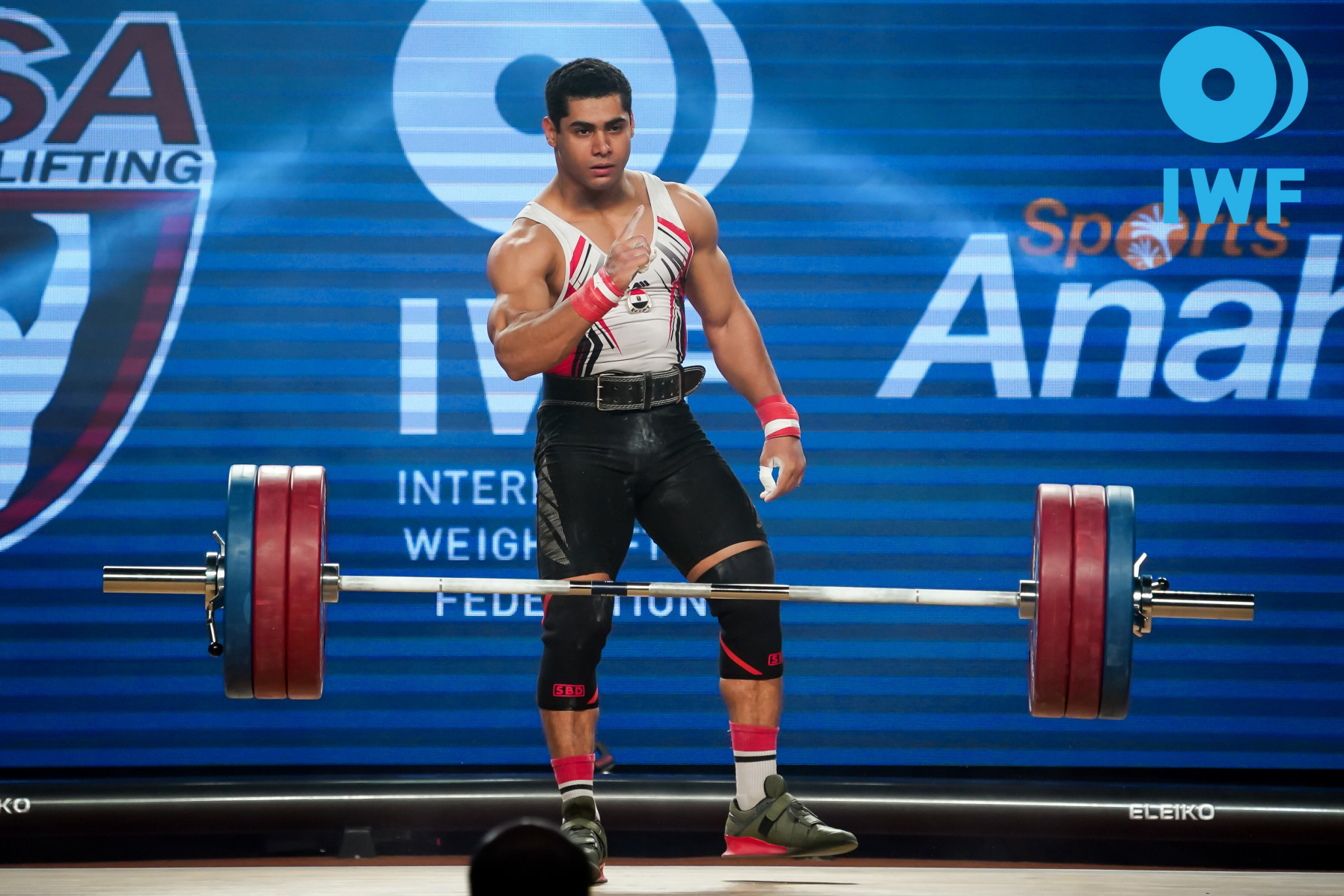 World champion Mohamed Ehab is one of the world's most popular weightlifters but could have to miss the 2020 Olympics in Tokyo if Egypt is banned because of doping ©IWF