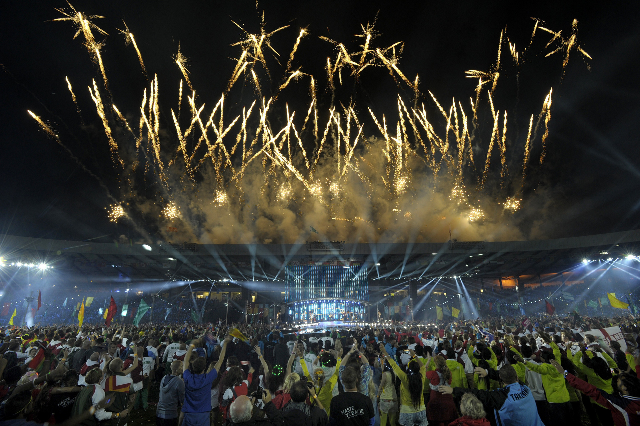 GL Events and Field & Lawn provided services for the Glasgow 2014 Commonwealth Games ©Getty Images
