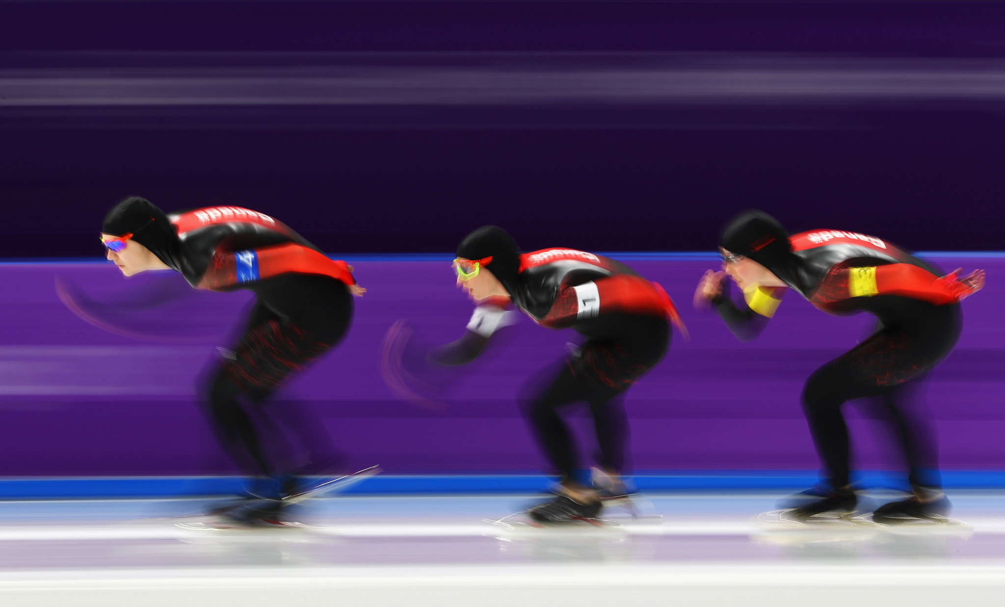 The Canadian team pursuit line-up came fourth at Pyeongchang 2018 ©Getty Images