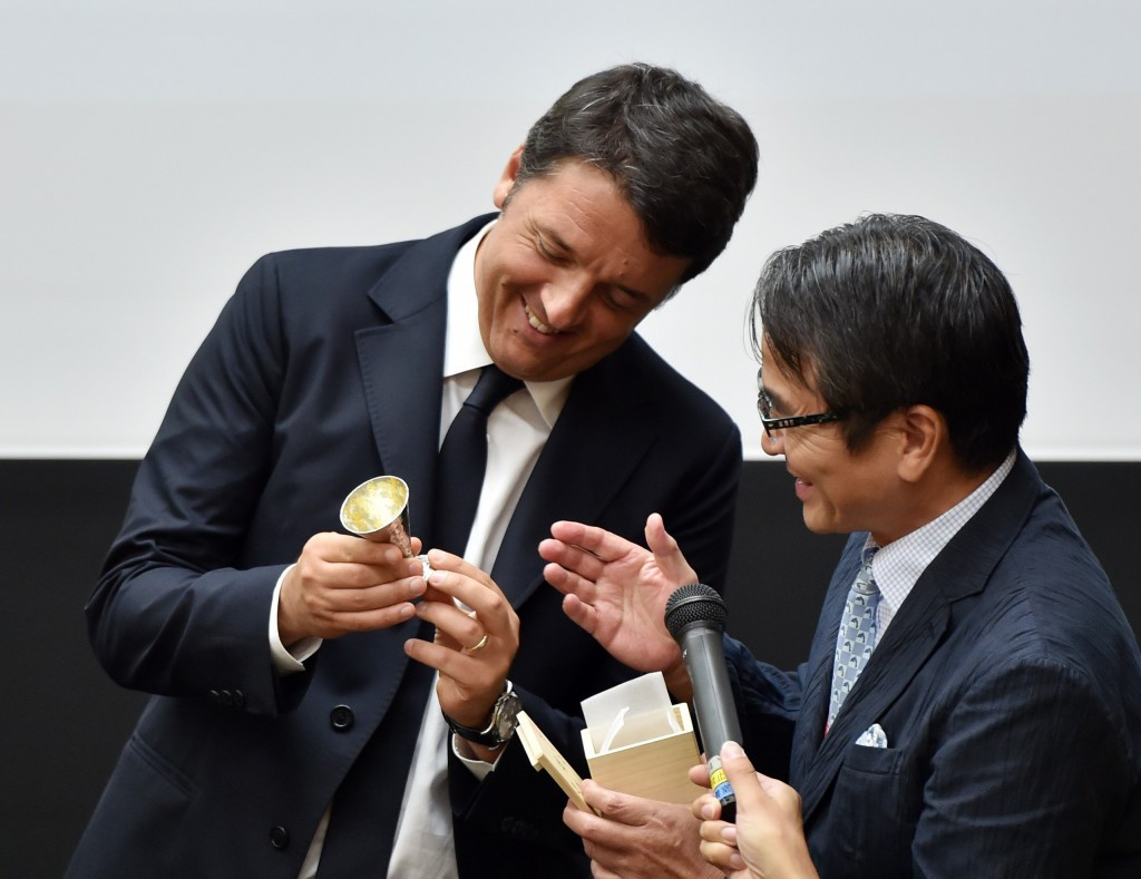Ryohei Miyata (right), President of the Tokyo University of the Arts, has been appointed to head the preliminary committee ©Getty Images