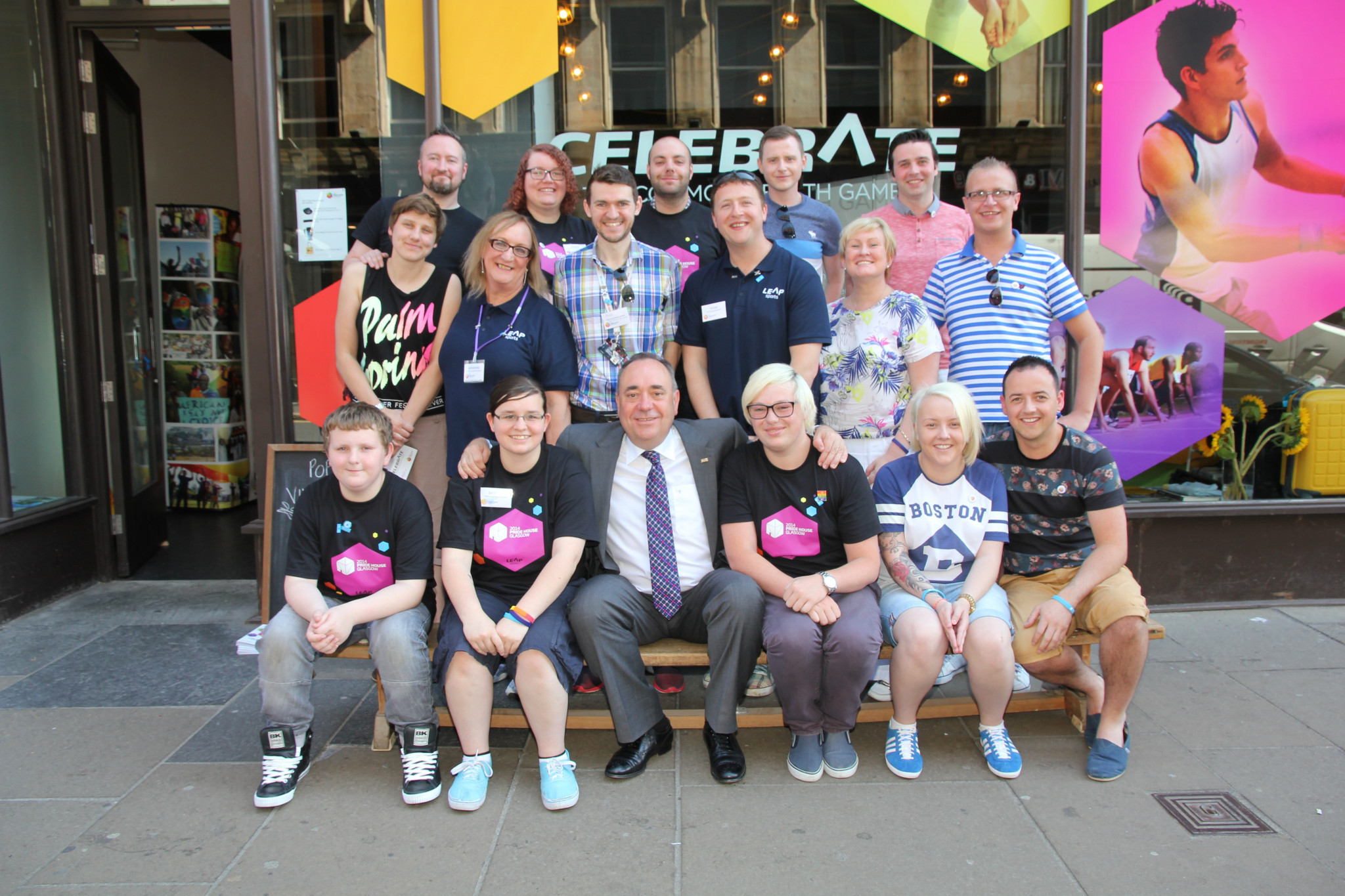 Then First Minister Alex Salmond met volunteers, guests and visitors at Pride House during the 2014 Commonwealth Games in Glasgow ©LEAP Sports