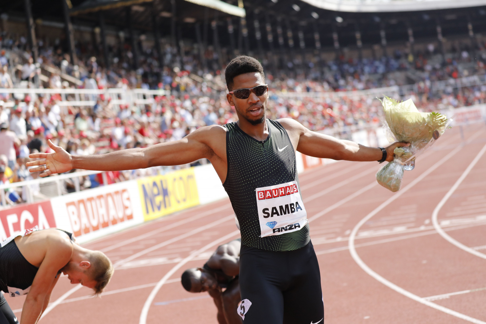 Qatar's Abderrahman Samba has become the second man to run under 47 seconds for the 400m hurdles at the Paris Diamond League meeting  ©Getty Images