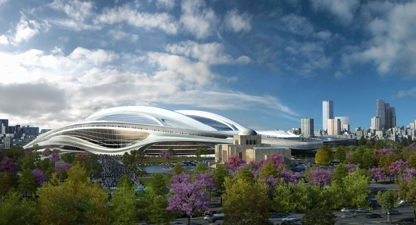 Zaha Hadid's initial design for the Tokyo 2020 stadium was scrapped ©Getty Images