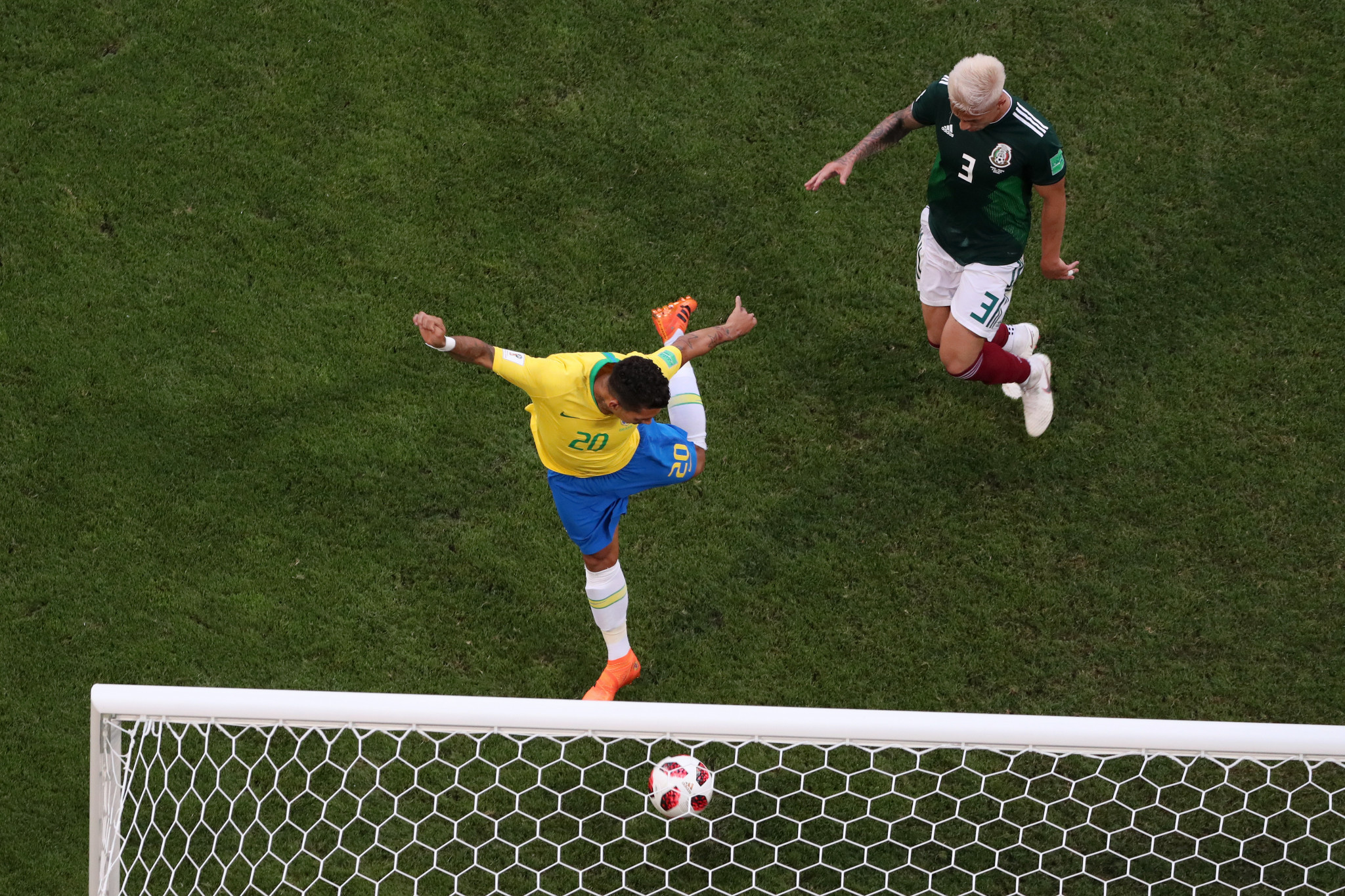 Roberto Firmino scored a second late on to give Brazil a 2-0 win against Mexico ©Getty Images