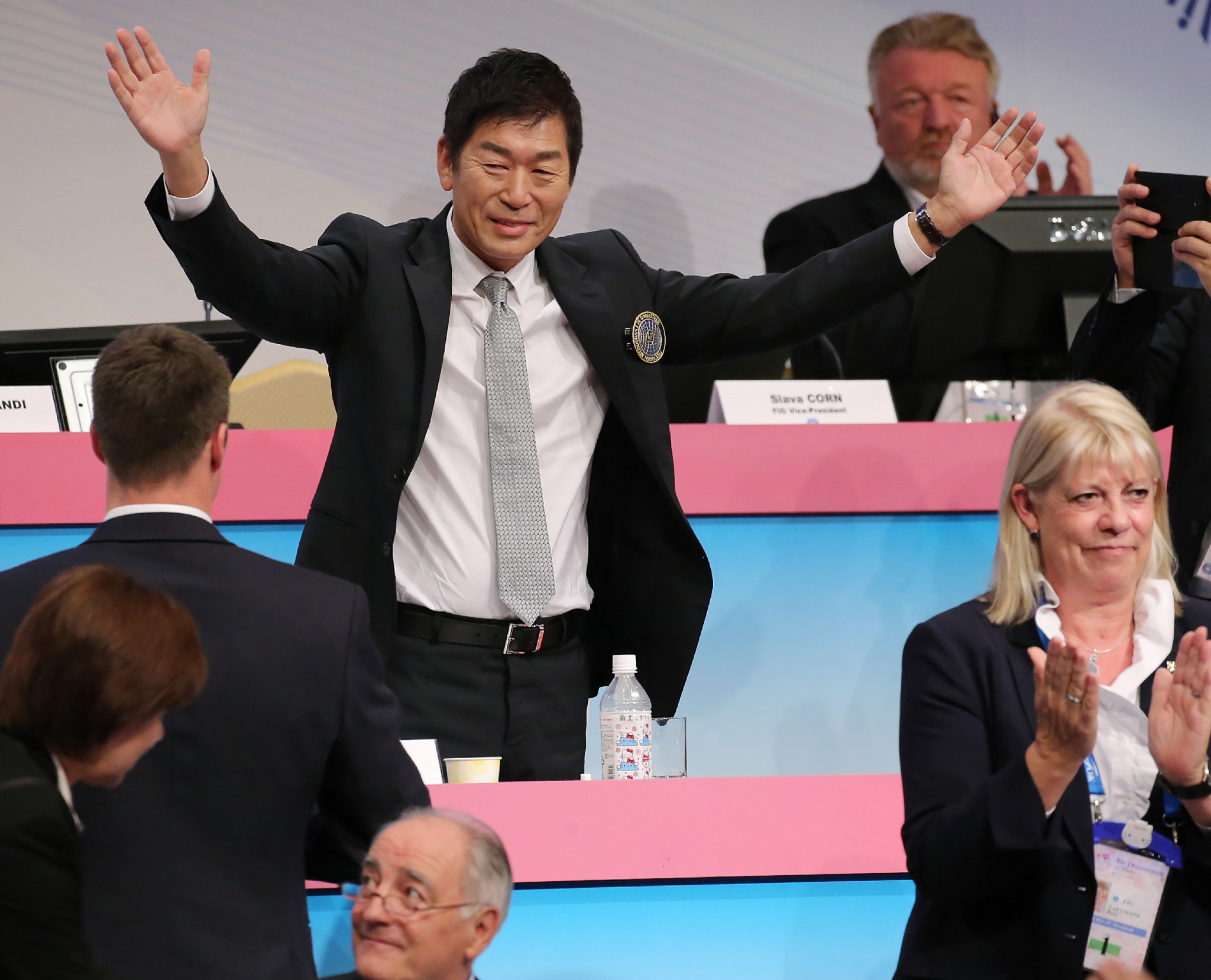 FIG President Morinari Watanabe will visit North Korea later this month to discuss helping the country with their preparations for the Tokyo 2020 Olympic Games ©Getty Images