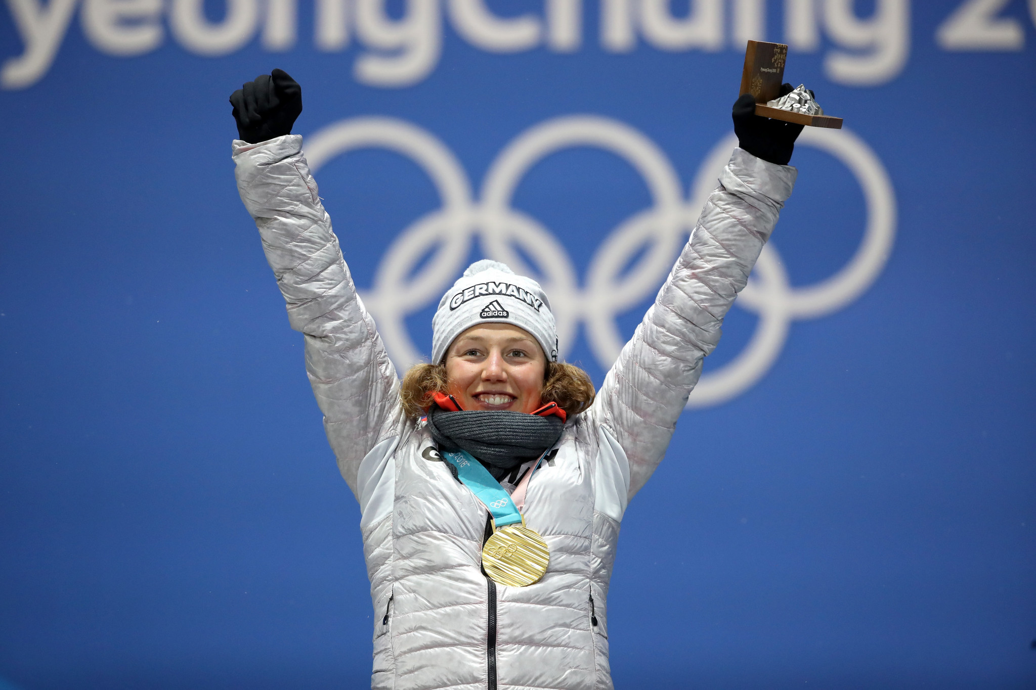 Laura Dahlmeier is an athlete representative on the sustainability group ©Getty Images