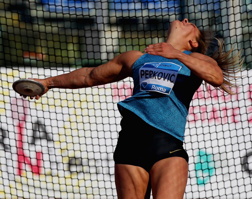 Croatia's discus thrower Sandra Perkovic topped the 2015 IAAF Diamond League prize money list with $106,000 ©Getty Images