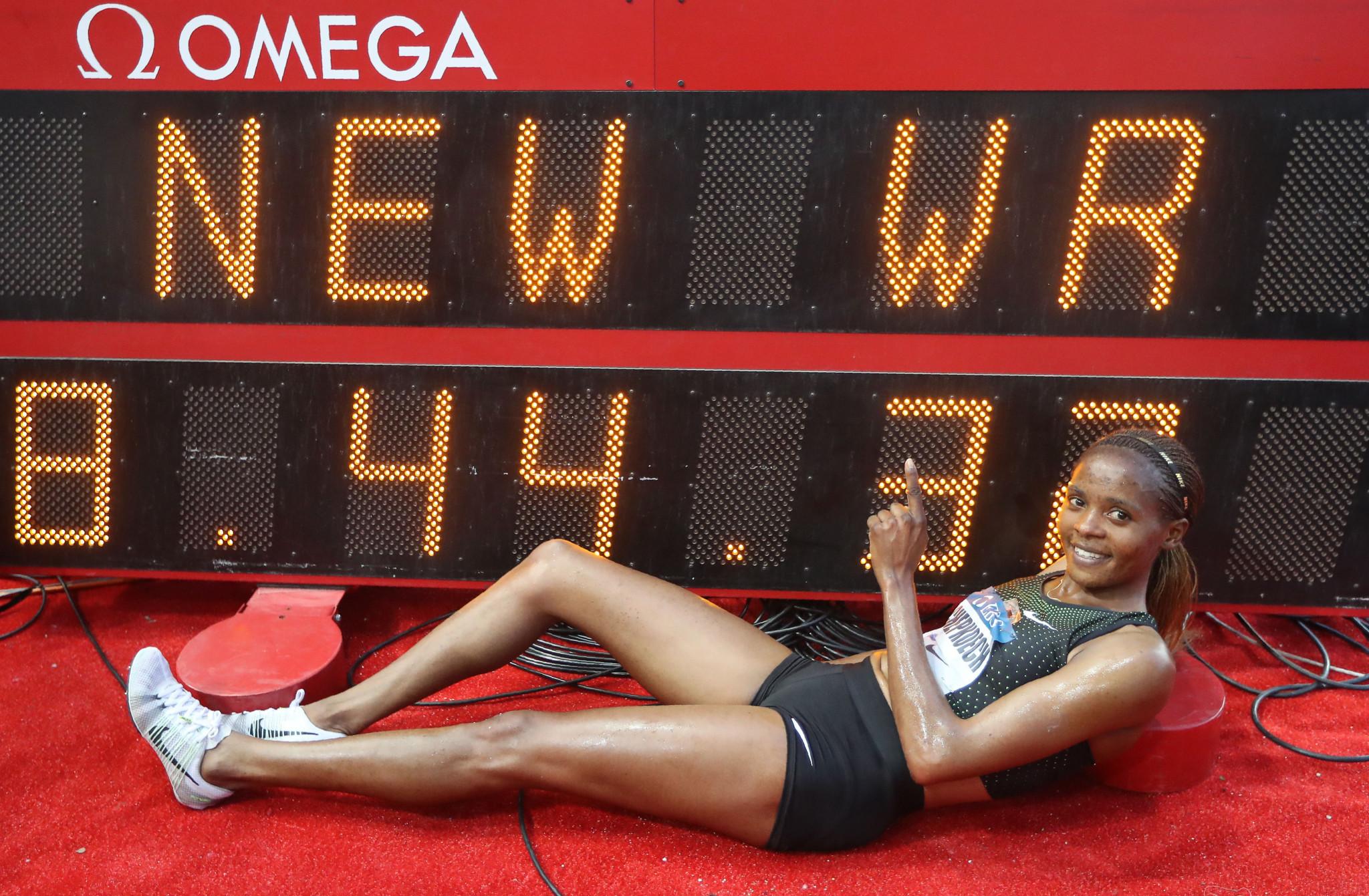 Chepkoech destroys women's 3,000m steeplechase world record at Monaco Diamond League