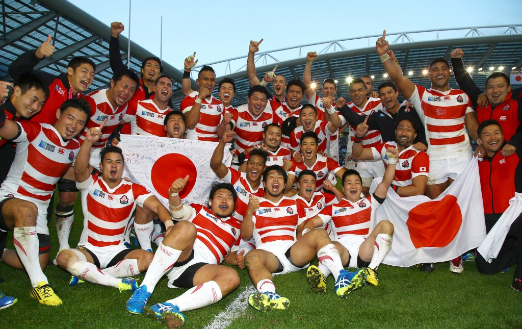 Japan stun South Africa at Rugby World Cup in Brighton