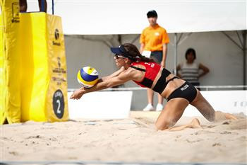 Competition is underway in the Japanese capital, host of the 2020 Olympics ©FIVB