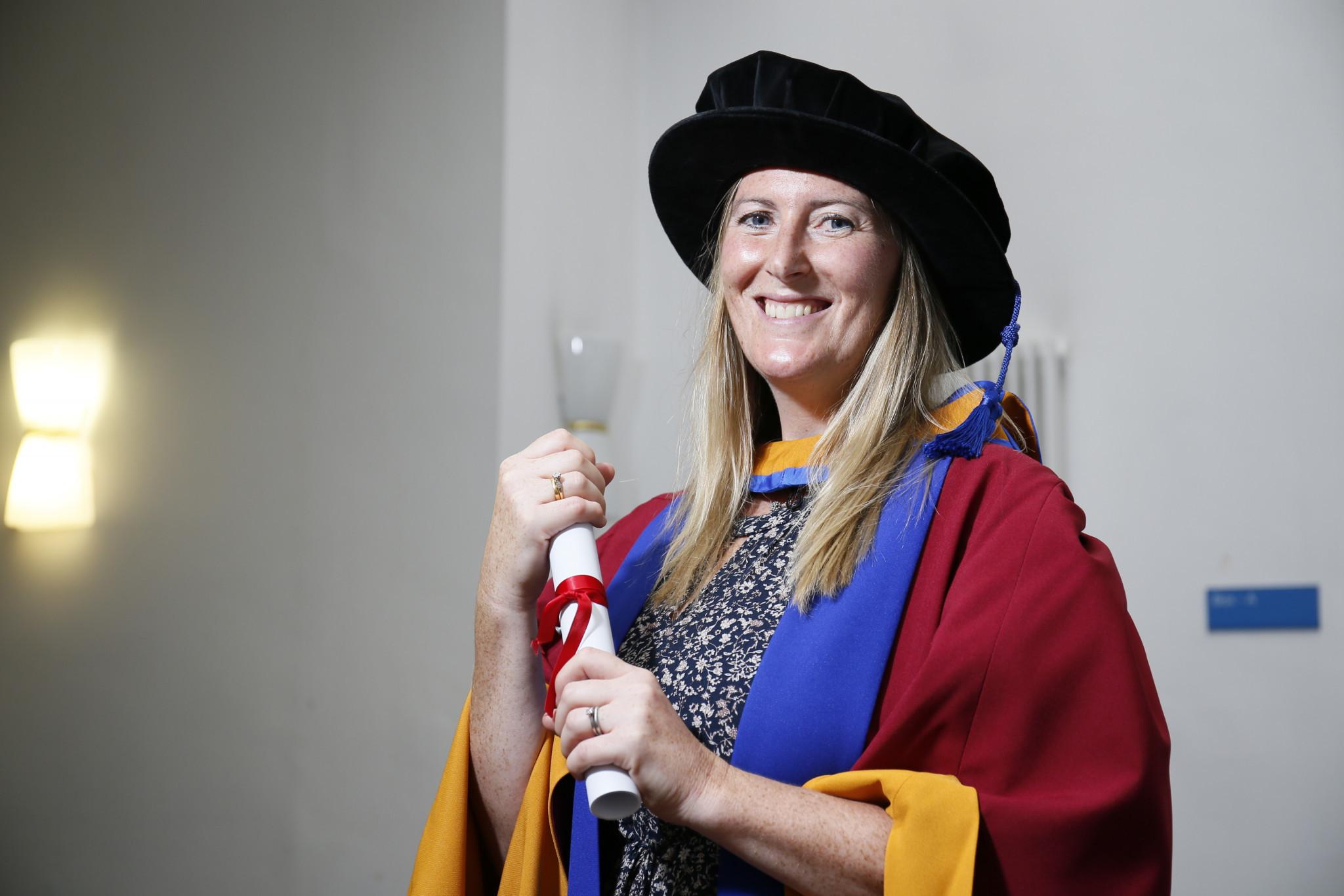 Para-rowing world champion Aggar given honorary degree by Leeds Beckett