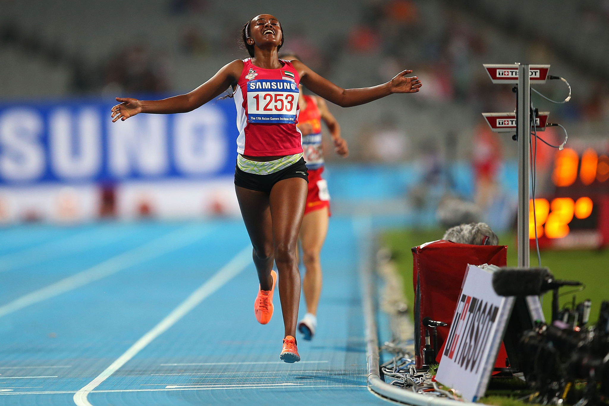 Alia Mohammed Saeed Mohammed won the sole gold medal for the UAE at the 2014 Asian Games ©Getty Images