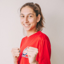 Natural entertainer, Anastasija Zolotic, kicked her way to gold in the World Taekwondo Junior Championships