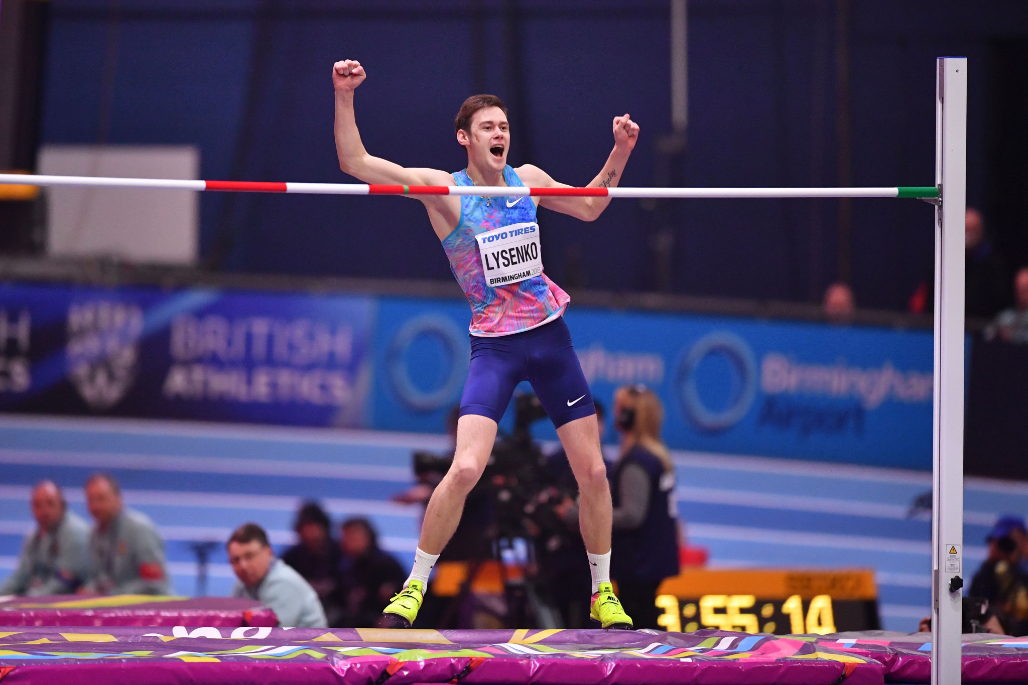 World indoor high jump champion Lysenko suspended over whereabouts violation in further blow to Russian athletics