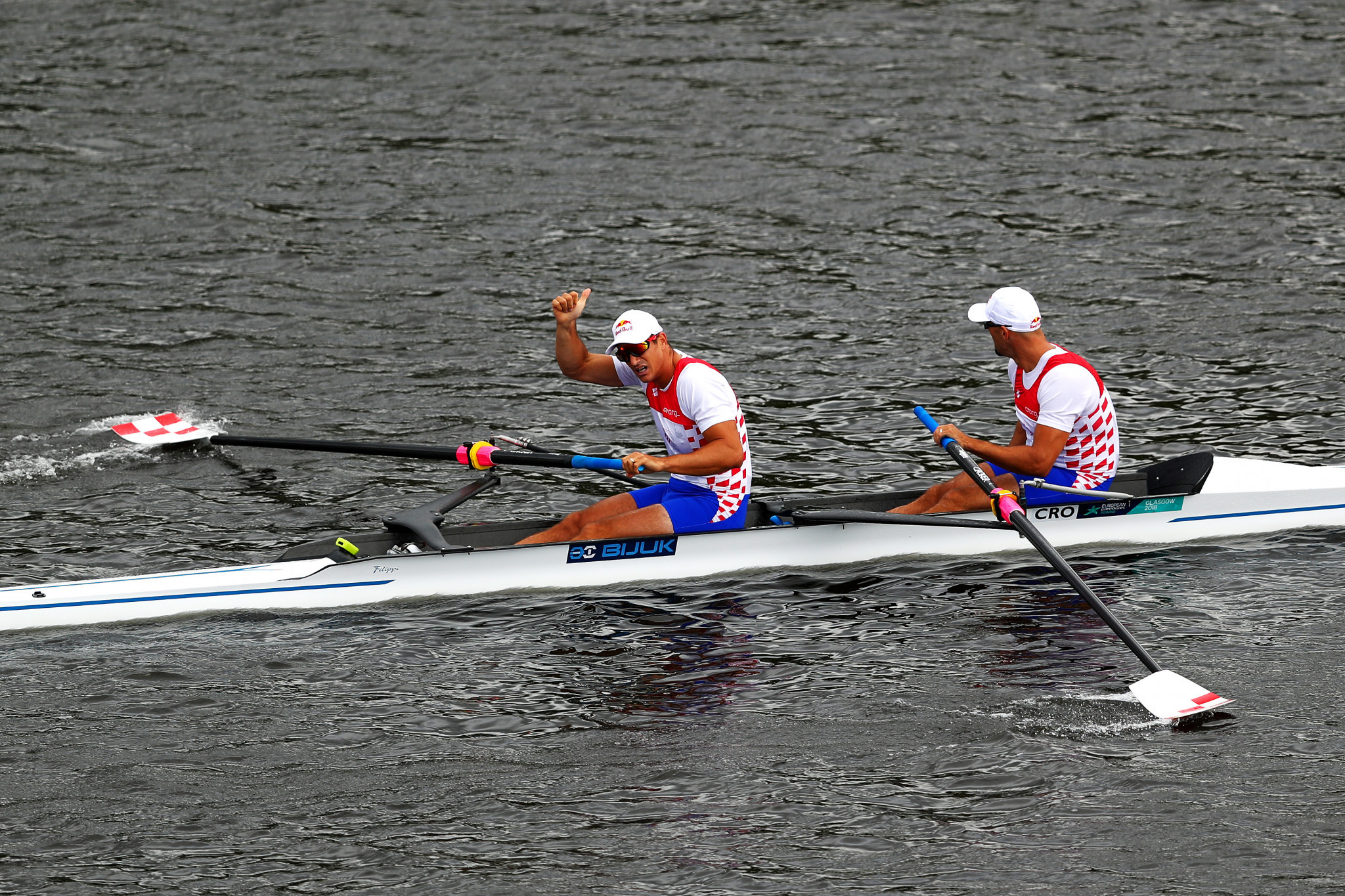 Sinković brothers claim pairs title as Romania impress on opening day of Glasgow 2018 rowing finals