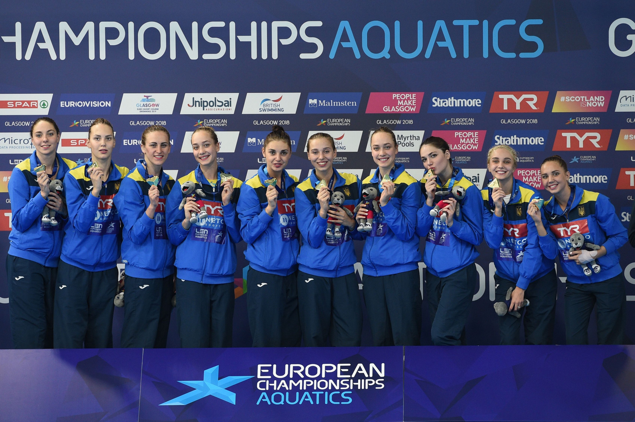 Ukraine claim first gold as artistic swimming action continues at Glasgow 2018 European Championships