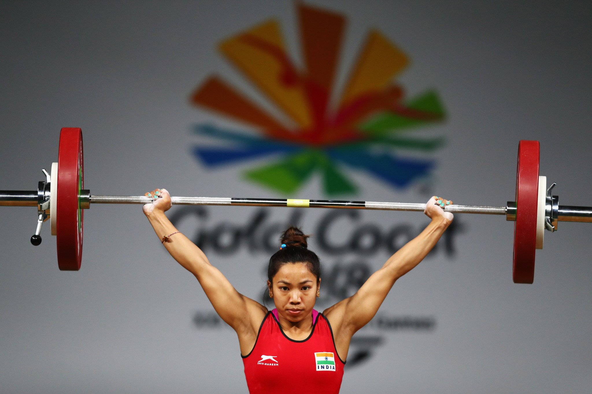 India's Commonwealth Games gold medallist Mirabai Chanu has withdrawn from the 2018 Asian Games because of injury ©Getty Images