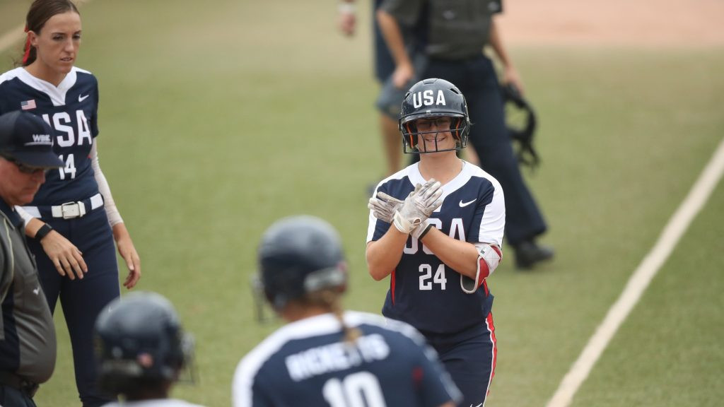 The United States maintained their perfect start ©WBSC