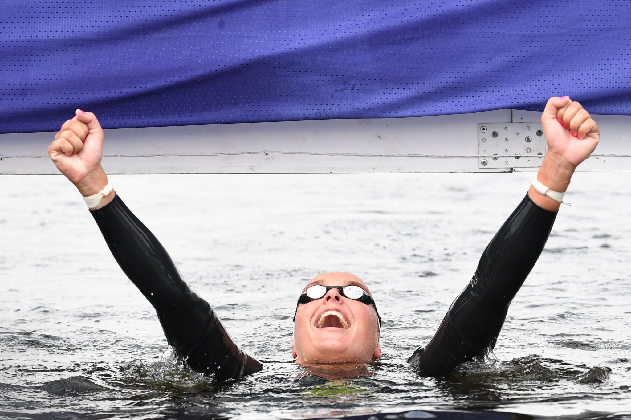 Van Rouwendaal clinches women's 5km open water swimming title at European Championships