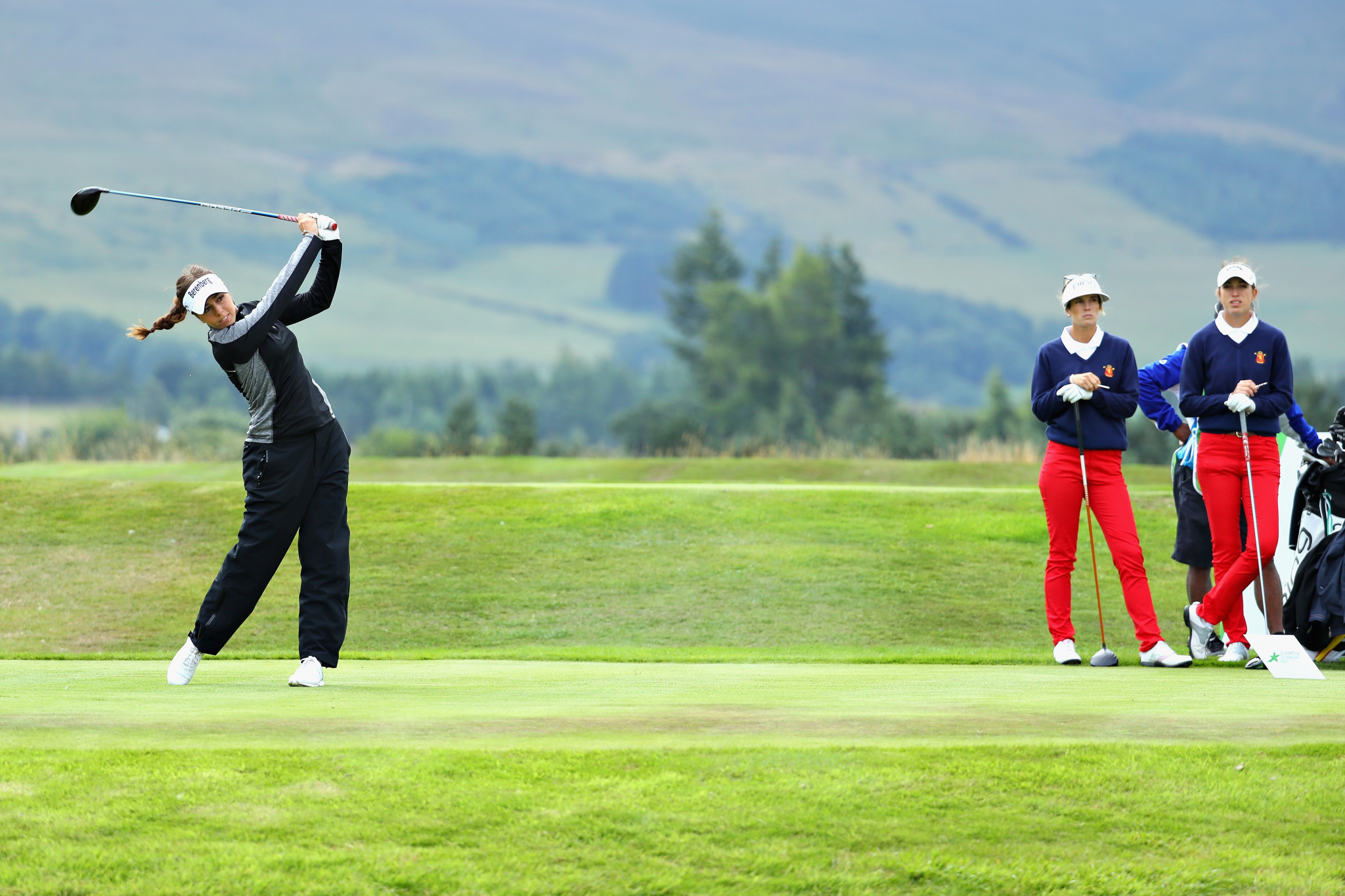 British Open champion Hall begins European Championships golf event with victory