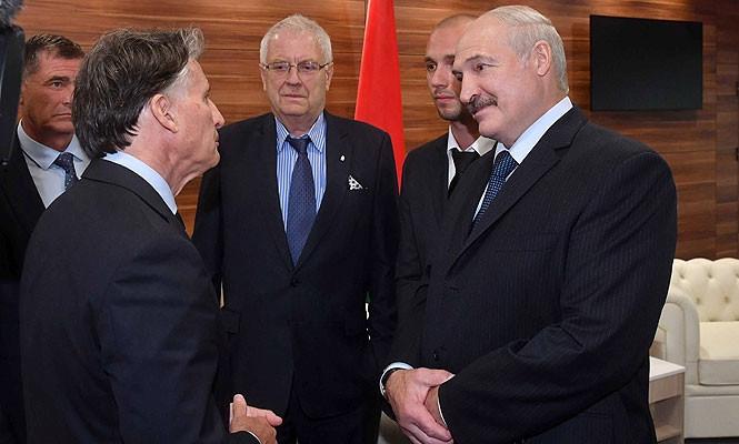 IAAF President Sebastian Coe, who has recently visited Minsk where he met Belarus President Alexander Lukashenko, has welcomed the new DNA athletics vehicle as