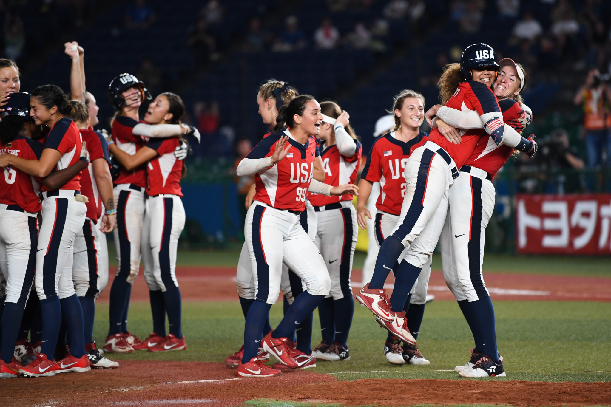 The United States have won the women's Softball World Championships for the second time in a row, after beating Japan 7-6 in Chiba ©Getty Images