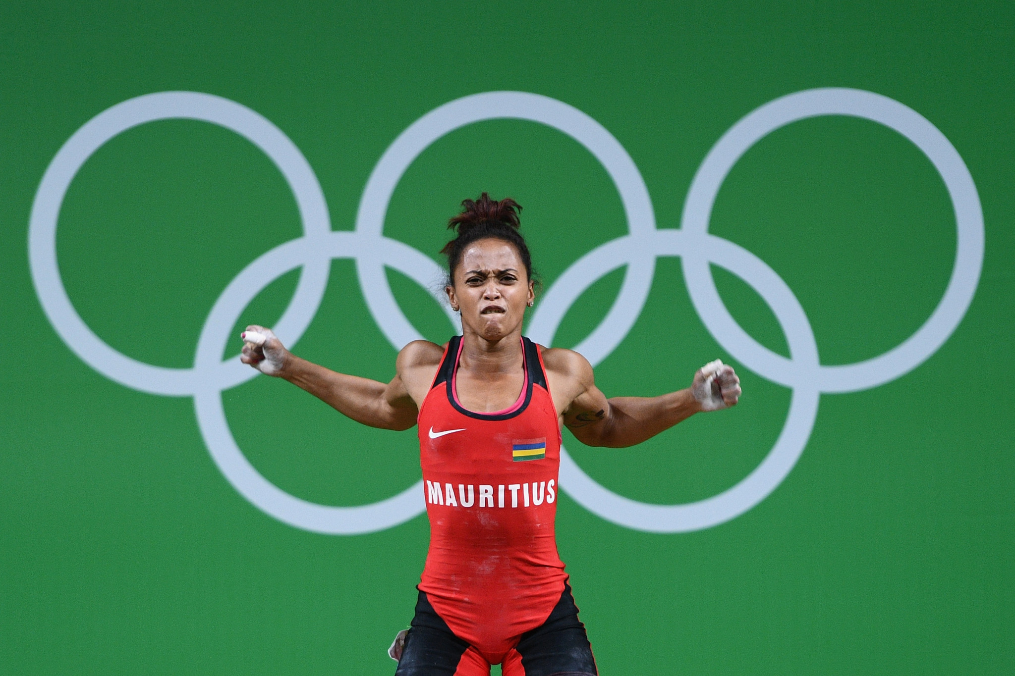 Roilya Ranaiuosoa of Mauritius, pictured competing at the Rio 2016 Olympic Games, was among the home winners ©Getty Images
