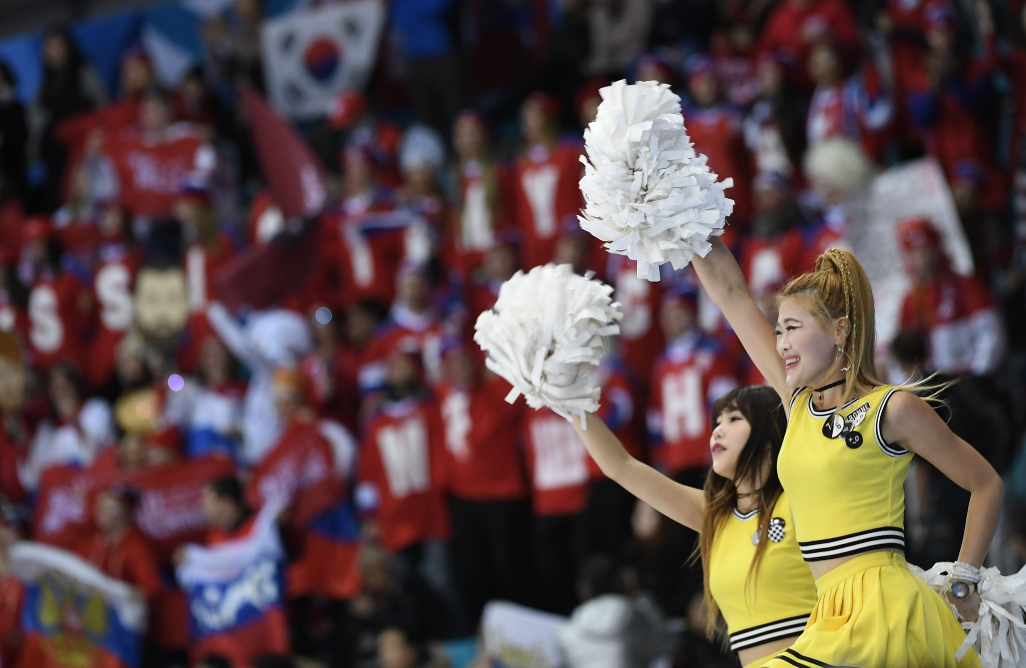 A cheerleading squad are due to support the unified Korean team ©Getty Images