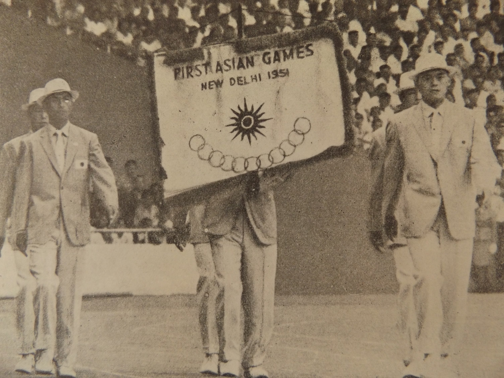 A group from Japan march in the official Asian Games from the first edition of the event at New Delhi in 1951 ©Official Report Jakarta 1962