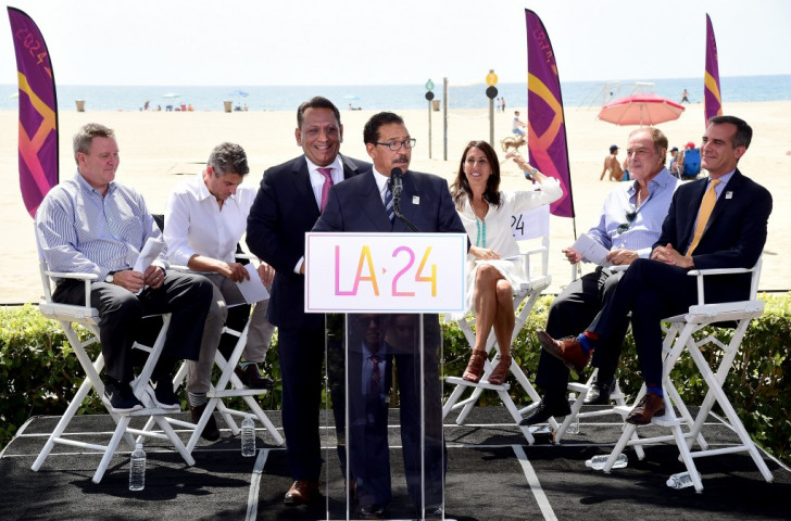 Gilbert Cedillo, pictured here stood behind LA City Council President Herb Wesson, says LA