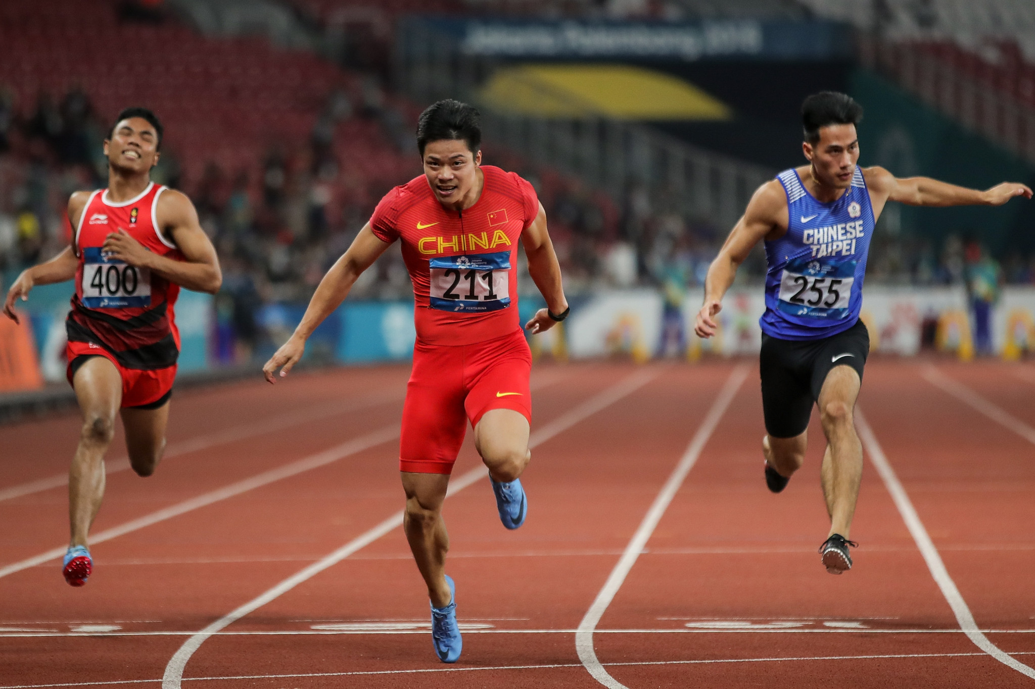 Bingtian Su won the men's 100m tonight in an Asian Games record ©Getty Images