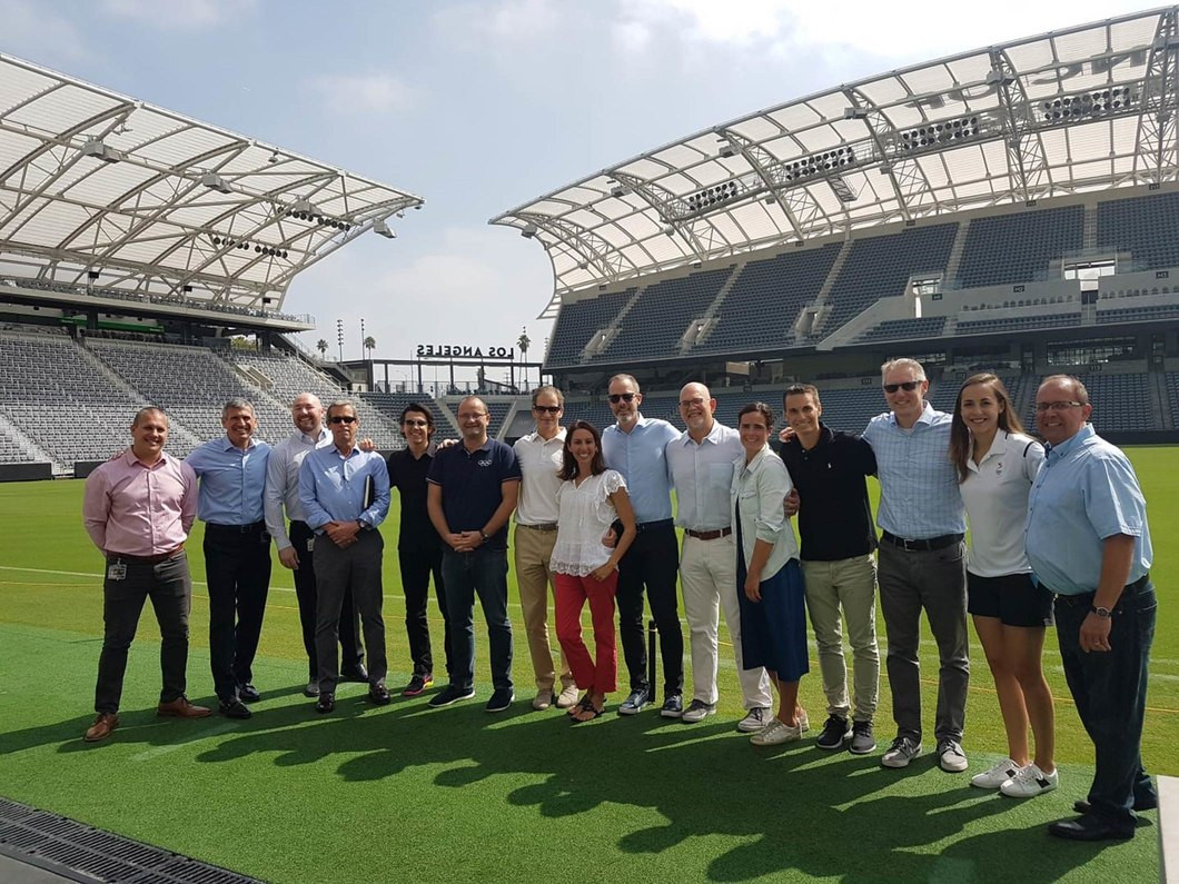 Officials from the IOC and the IPC have visited Los Angeles ©IOC