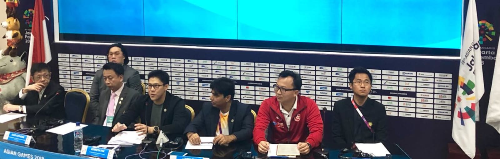 Asian Electronic Sports Federation President Kenneth Fok, left of centre, has expressed his confidence that esports will become an official medal event at the 2022 Asian Games in Hangzhou ©Asian Games 2018