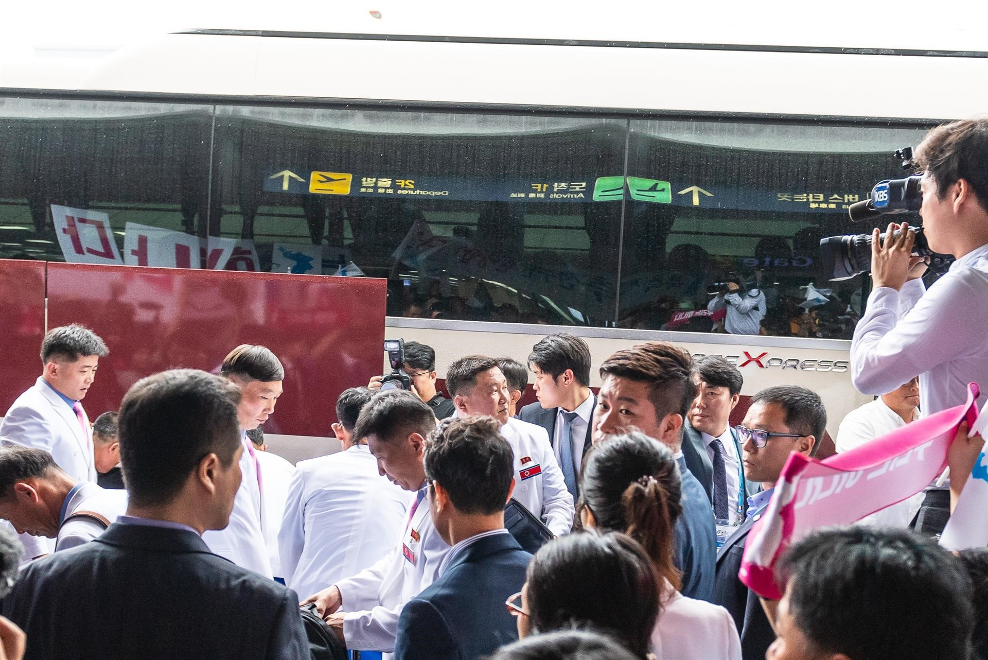 North Korea arrived in South Korea for the event today ©ISSF
