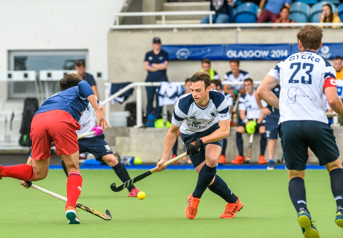 Scotland are the highest ranked team participating and opened the tournament with a win ©Scottish Hockey/Twitter