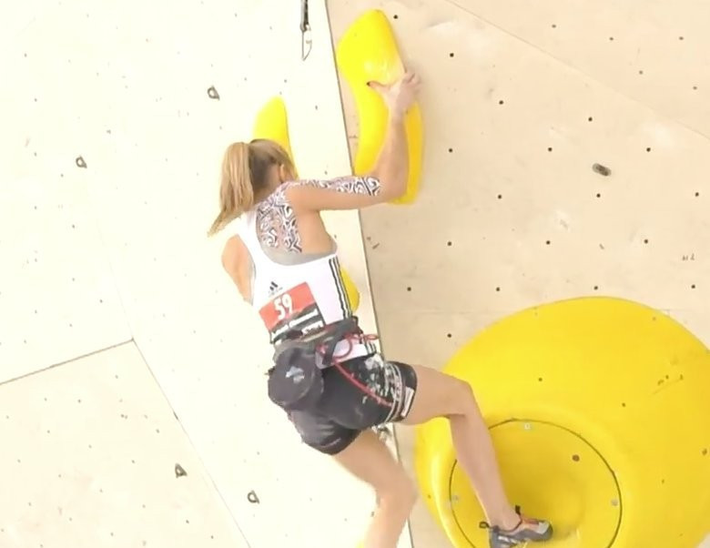Janja Garnbret topped the wall in both her qualifying groups ©IFSC