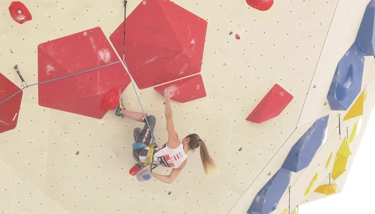 Home favourite Jessica Pilz enjoyed a good start to the Championships ©IFSC