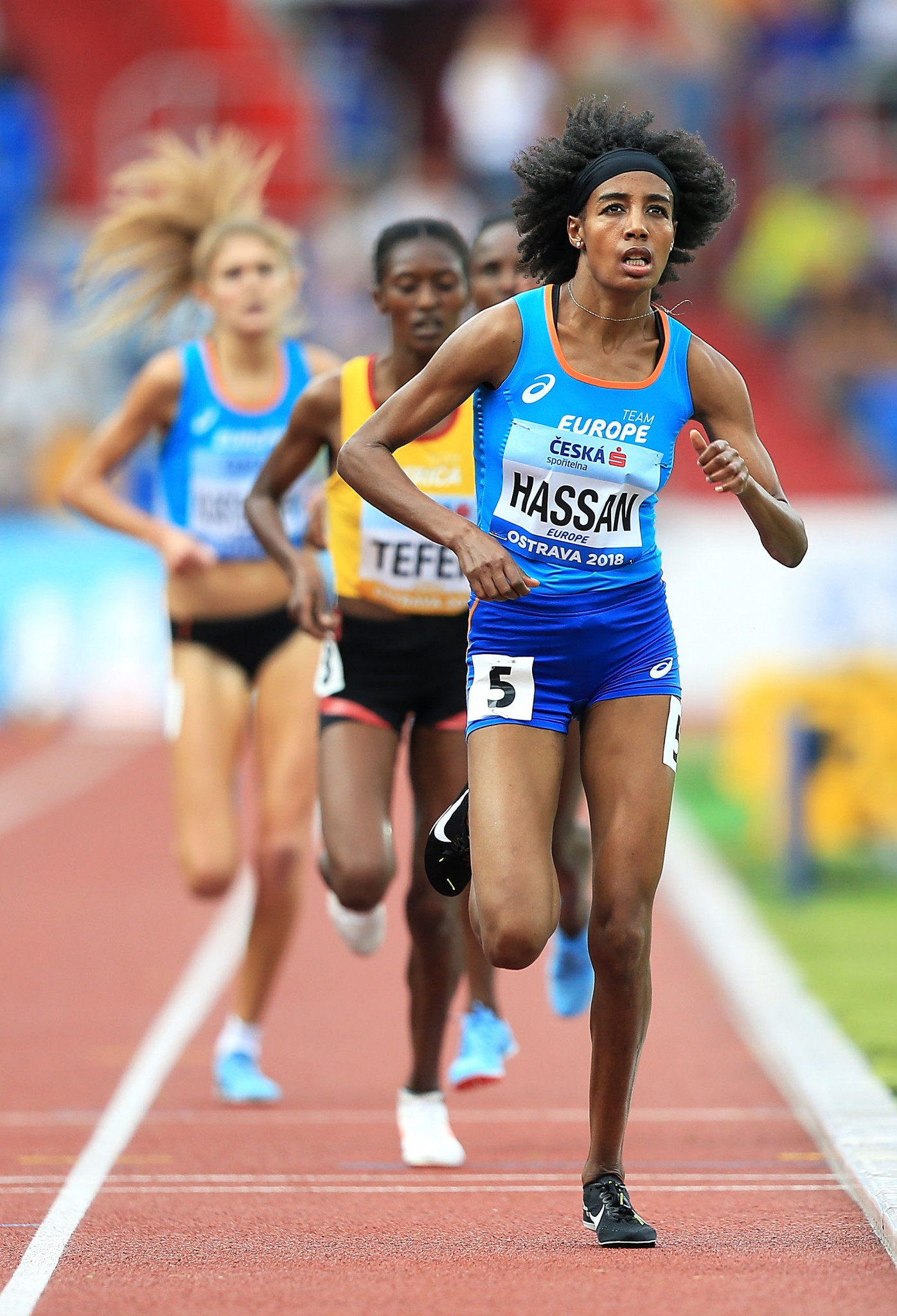 Sifan Hassan, racing for Team Europe, set a Championship record in the women's 3,000 metres at the Continental Cup in Ostrava ©Getty Images