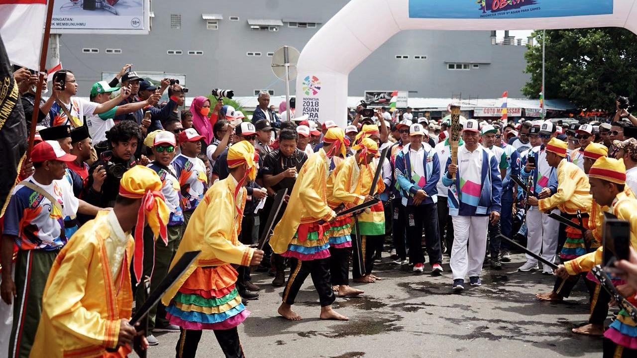 Ternate welcomes Asian Para Games flame