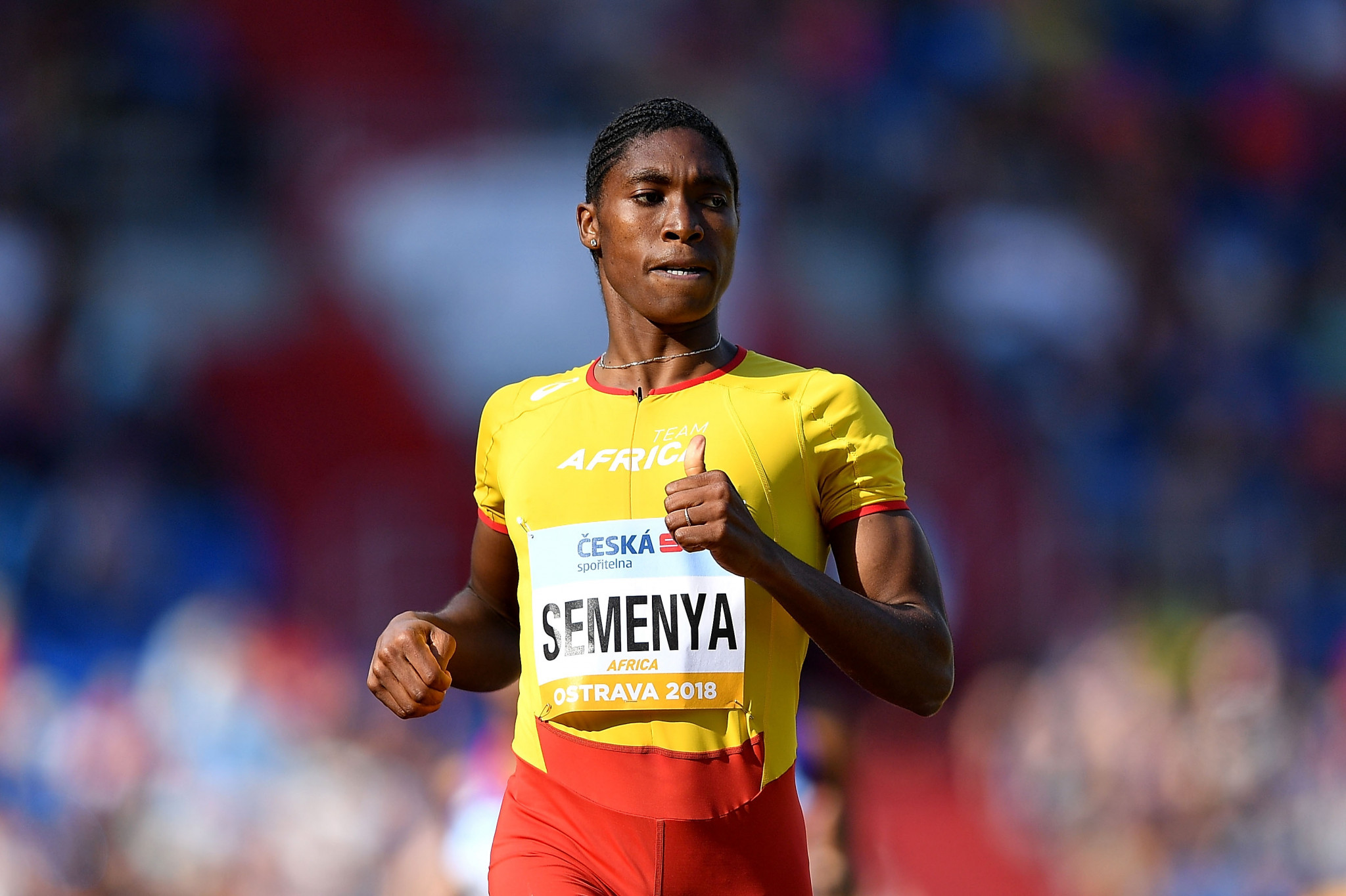 Caster Semenya is the latest athlete to star in a Nike advert, joining some of sport's greats ©Getty Images