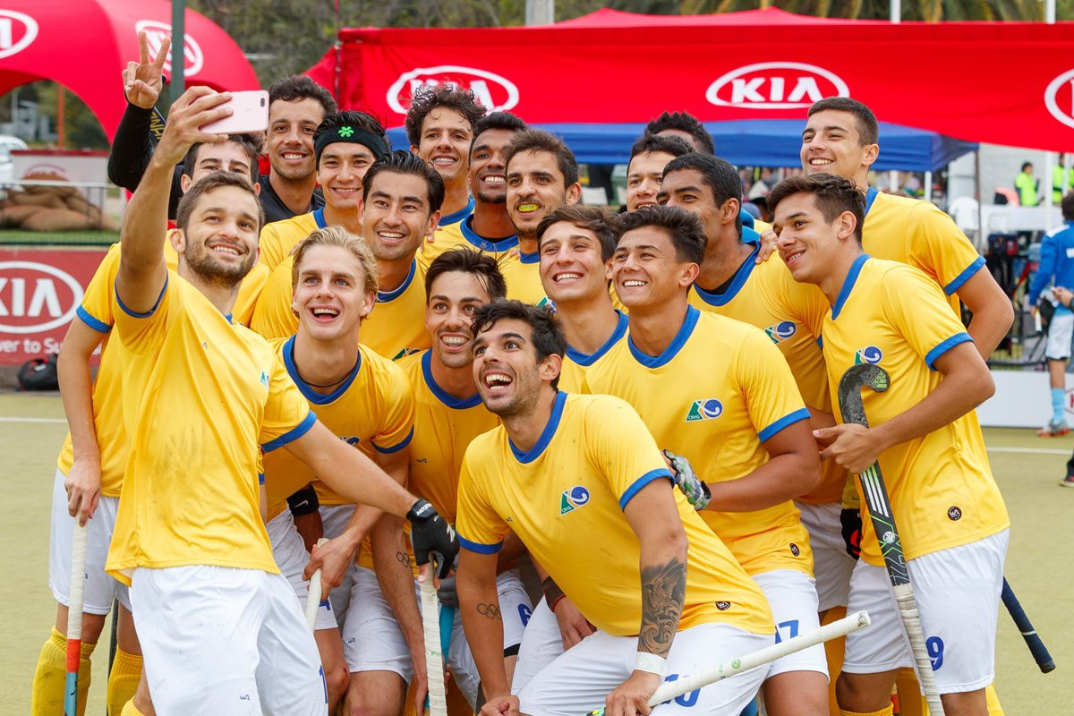 Brazil beat Bolivia 22-0 in their opening game of the South American Hockey Series Open ©FIH