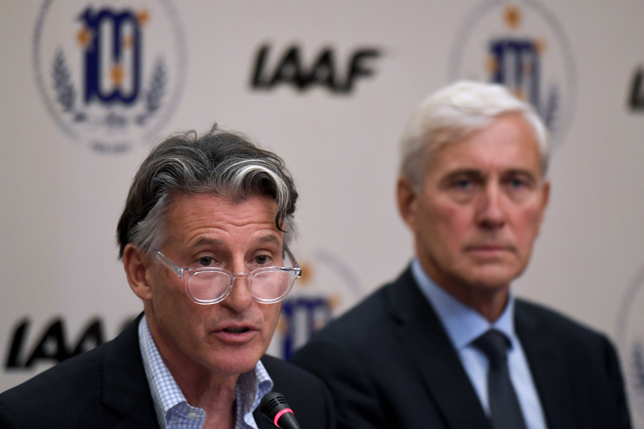 IAAF President Sebastian Coe, left, said they will stick to the conditions given to Russia and overseen by its Taskforce headed by Norwegian Rune Andersen, right ©Getty Images