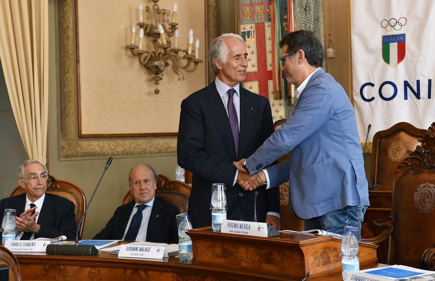 CONI President Giovanni Malagò updated the organisation's National Council in Bologna about the latest developments in Italy's bid for the 2026 Winter Olympic and Paralympic Games ©CONI