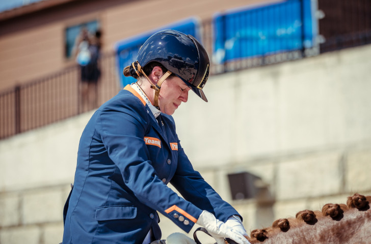Inspired Voets helps Netherlands take command of Para dressage team event at FEI World Equestrian Games