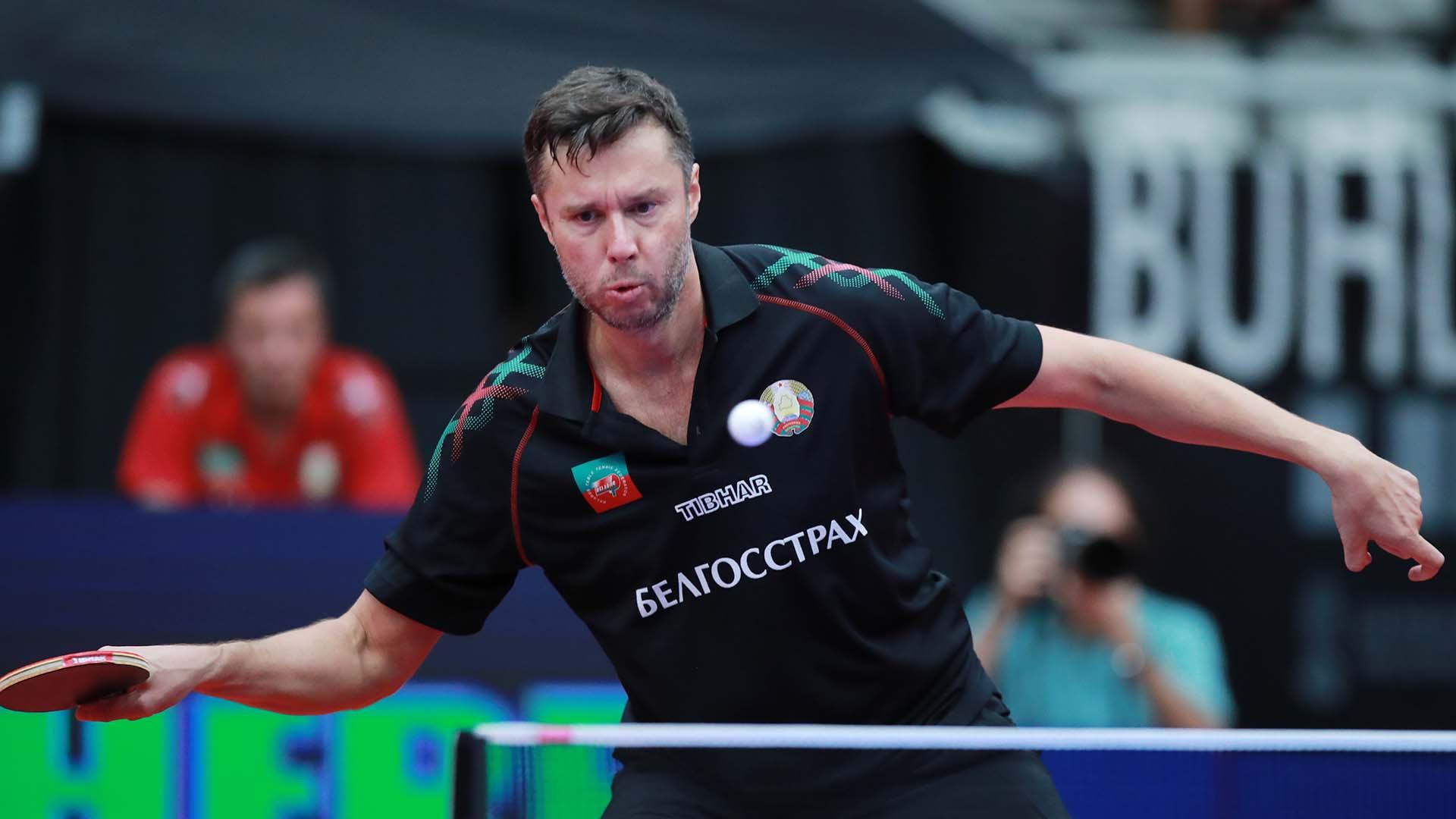Twenty years after winning title, Samsonov beats ITTF European Championships second seed Ovtcharov