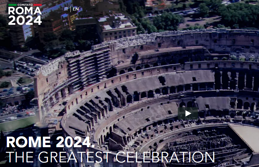 Rome have unveiled a new bid website showcasing iconic elements of the host city ©Rome 2024
